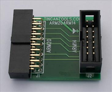 20-pin to 14-pin Adapter for ARM JTAG In-Circuit Debuggers